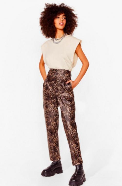 Nastygal - Pantalon similicuir