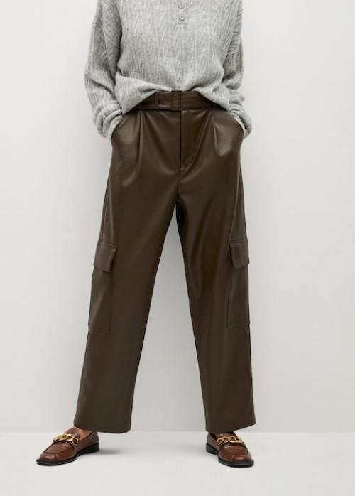 Mango - Pantalon similicuir