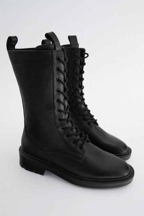 Zara - Bottes à lacets