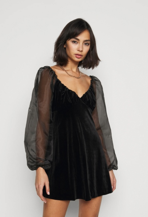 Missguided Petite - Robe à manches bouffantes
