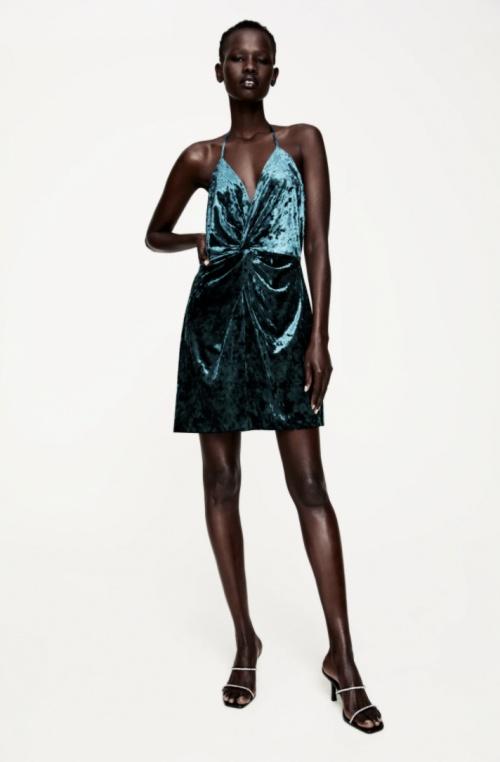 Zara - Robe courte à bretelles