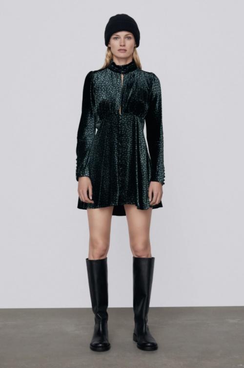 Zara - Robe à manches longues