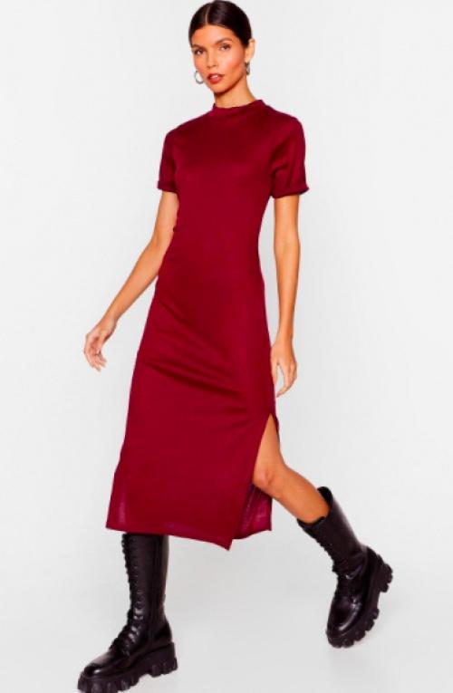 Nastygal - Robe longue côtelée