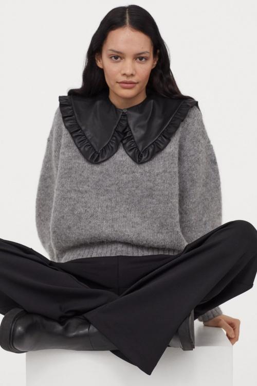 H&M - Pull en laine avec col