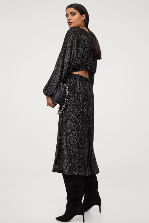 H&M - Robe à paillettes