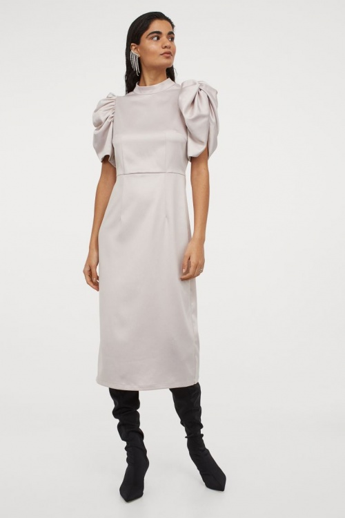 H&M - Robe à manches bouffantes