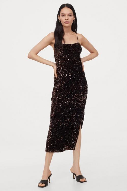 H&M - Robe ajustée à paillettes