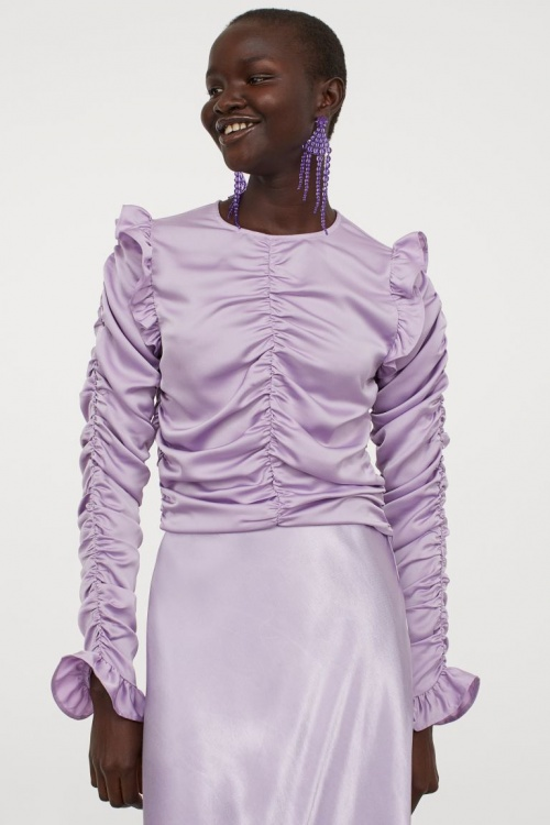 H&M - Blouse drapée en satin