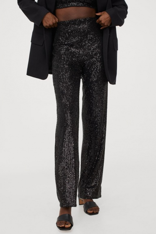 H&M - Pantalon à sequins