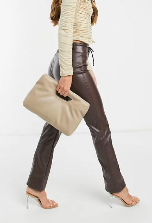 Asos DESIGN - Pantalon simili