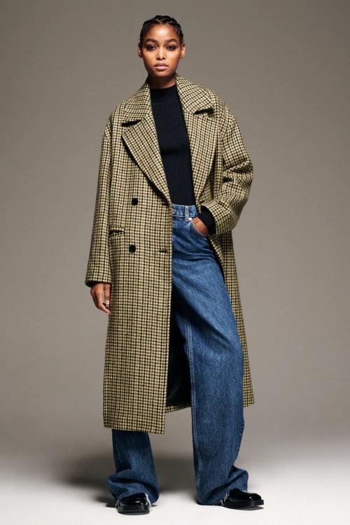 Zara - Manteau motif pied-de-poule