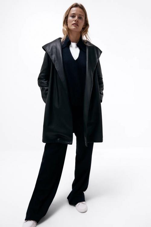 Zara - Manteau en similicuir