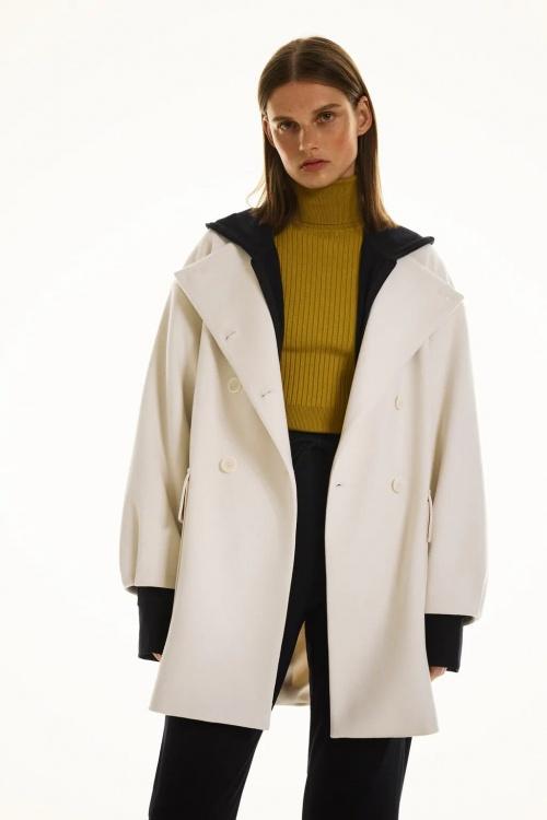 Zara - Manteau à boutonnage croisé