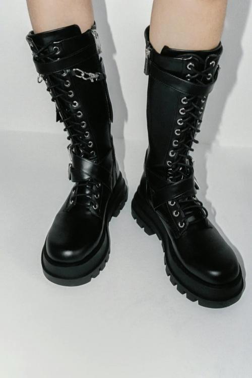 Zara - Bottes hautes à lacets