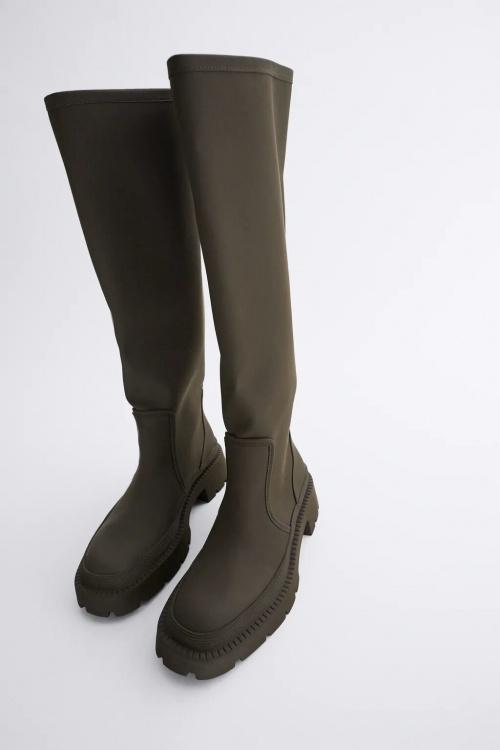 Zara - Bottes hautes gommées