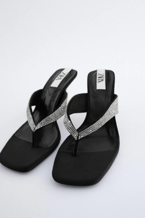 Zara - Sandales avec strass