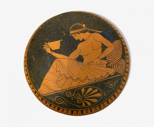 Selency - Boîte céramique mythologie