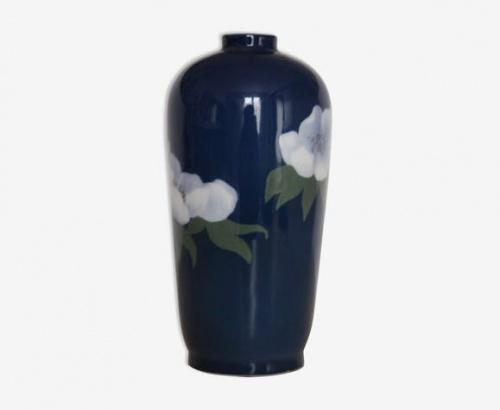 Selency - Vase bleu à fleurs