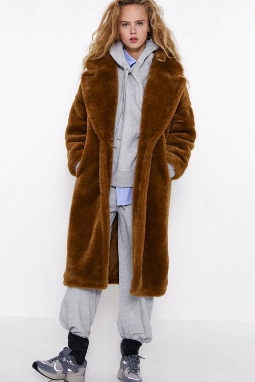Zara - Manteau fausse fourrure
