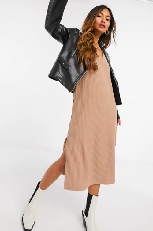 Fashion Union - Robe nuisette côtelée