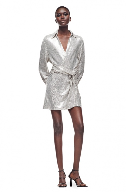 Zara - Robe à sequins