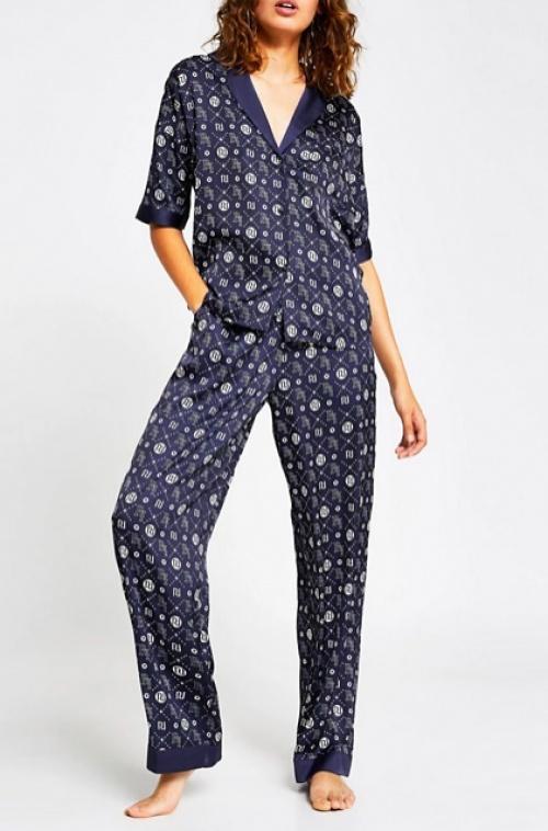 River Island - Pantalon pyjama satiné