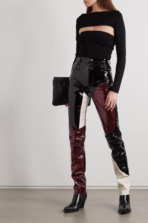 GMBH - Pantalon patchwork vinyle