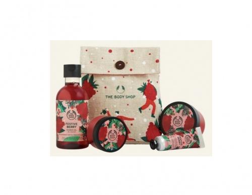 The Body Shop - Pochette Festive Fruits Rouges de Fête