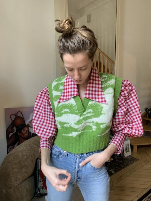 MaisonCleo - Gilet tricoté