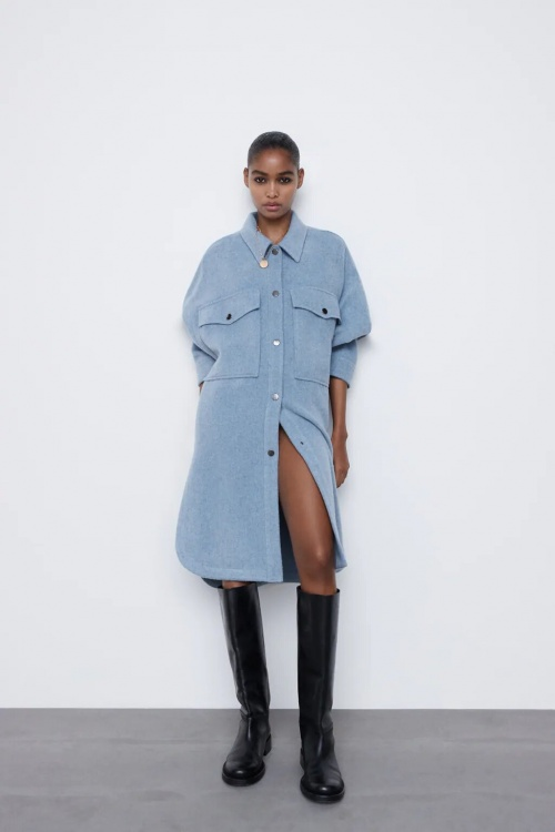 Zara - Surchemise en laine