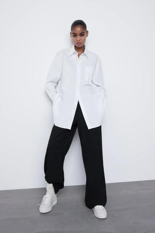 Zara - Chemise oversize à poches