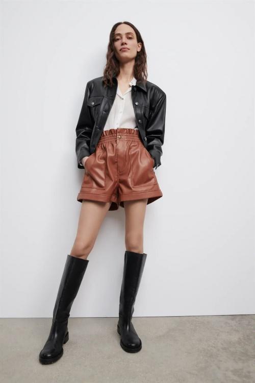 Zara - Short en simili