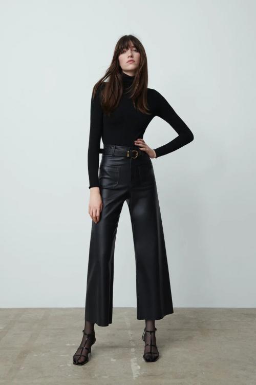 Zara - Pantalon similicuir