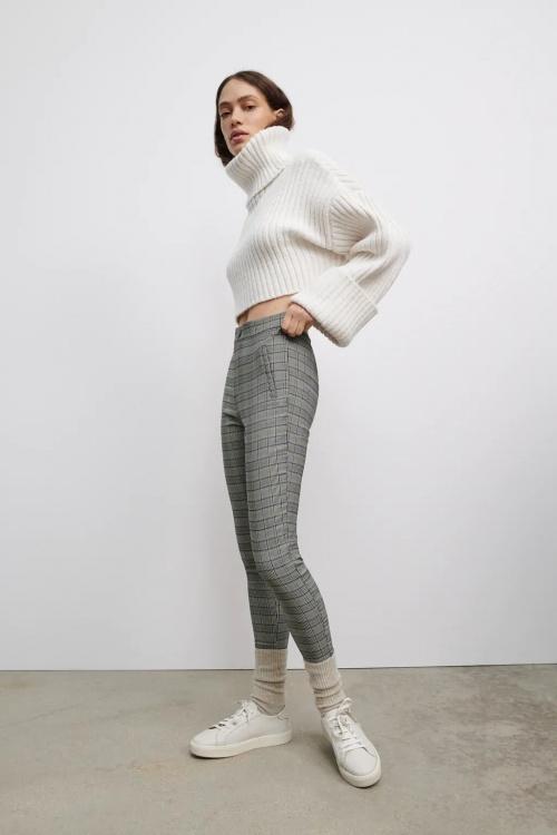 Zara - Legging à carreaux