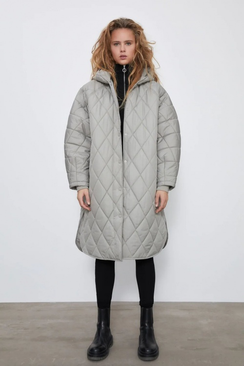 Zara - Veste longue matelassée
