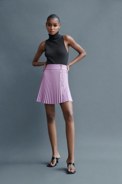 Zara  - Jupe plissée simili