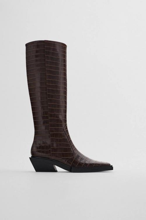 Zara - Bottes hautes style santiag