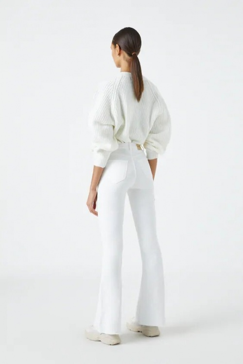 Pull and Bear - Jean flare blanc
