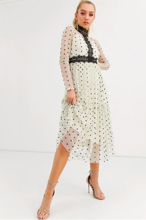 Lace & Beads - Robe mi-longue