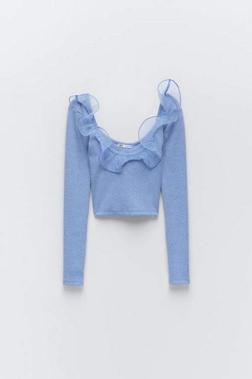 Zara - Top en organza