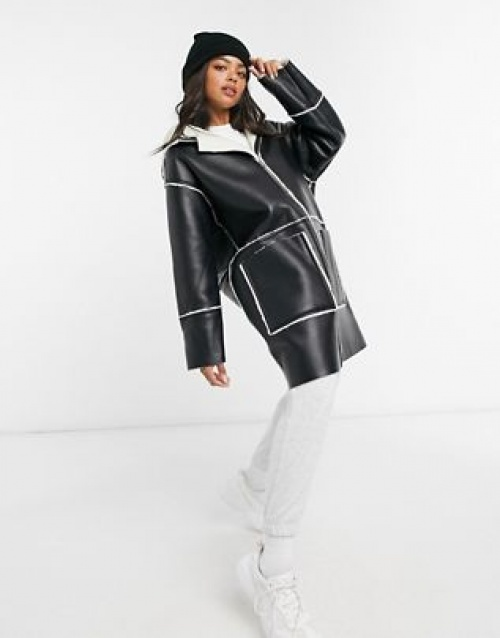 Asos DESIGN - Manteau fourrure