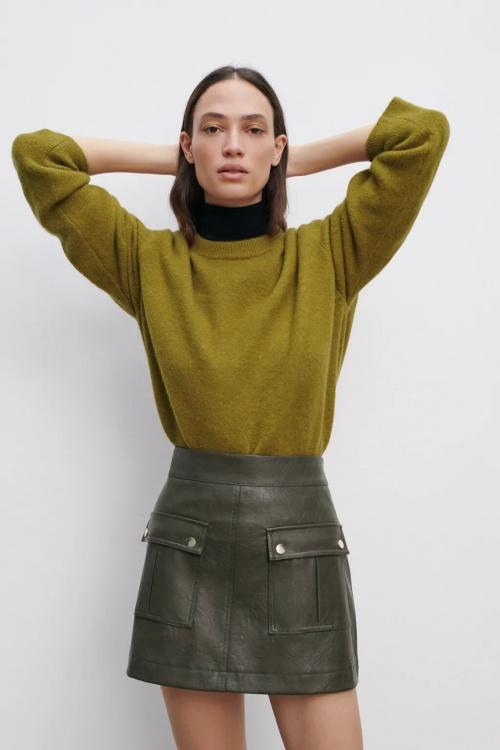 Zara - Jupe short effet cuir