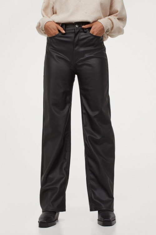 H&M - Pantalon similicuir