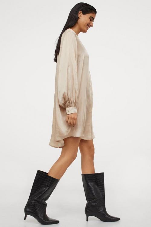 H&M - Robe effet satiné