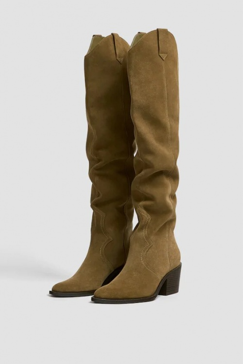 Pull and Bear - Bottes cuissardes cowboy