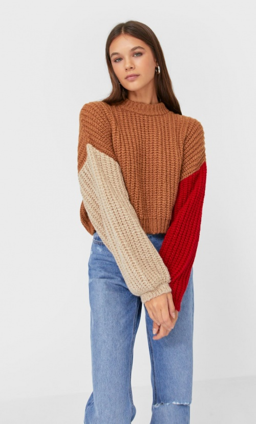 Stradivarius - Pull cropped color block