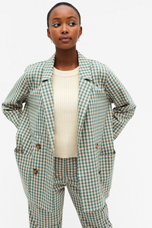 Monki - Blazer carreaux vichy