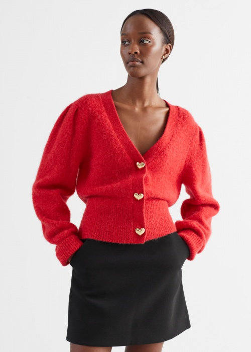 &Other Stories - Cardigan bouton coeur
