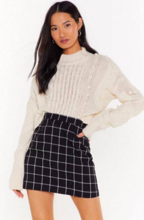 Nastygal - Mini jupe à carreaux