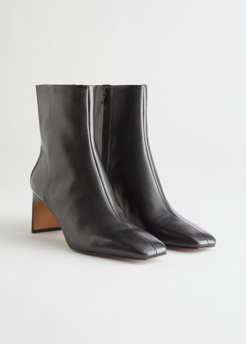 &Other Stories - Bottines bout carré